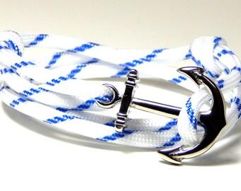 Men's Women's Nautical Anchor Bracelet Adjustable