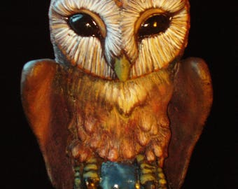 Hand painted Halloween Owl Ornaments by Tom Taggart