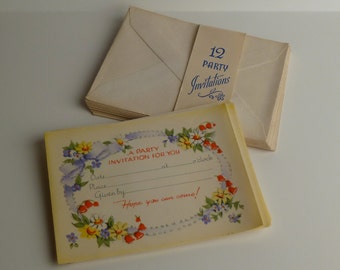 11 30's (?) vintage party invitations
