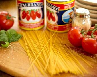 Food Photography - Kitchen Art - Pasta - Italian - Still Life - Fine Art Photography Prints - Blue Gold Red Kitchen/Dining Room Decor