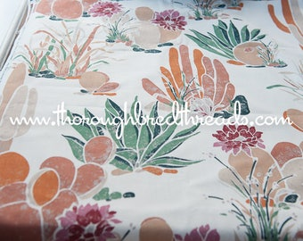 Cactus Print - New Old Stock Vintage Fabric Upholstery West Southwest Desert