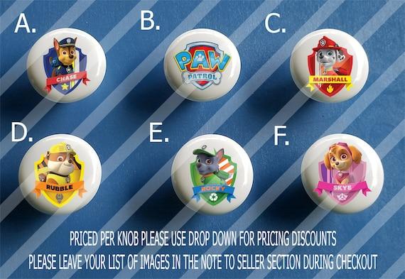 Paw Patrol Nursery Knobs / Custom Kitchen Knobs / Cute Cabinet Knobs/ Paw  Patrol Dresser Knobs / Paw Patrol Nursery Idea / Chase / Rocky