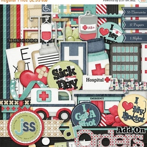 On Sale 50% Off Doctors Orders Add On Digital Scrapbook Kit - Digital Scrapbooking