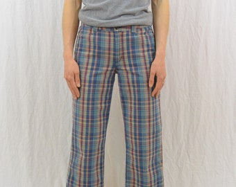 Vintage Plaid Capris, Size Small, 90's Clothing, Grunge, Tumblr Clothing, On Trend, Hipster, Indie Clothing, Plaid Pants