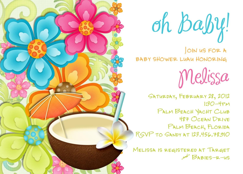 Description This Luau Baby Shower Invitation