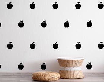 Apple Wall Decal - Fruit Wall Stickers - Kids Wall Decal Nursery Decor Pattern | PP155