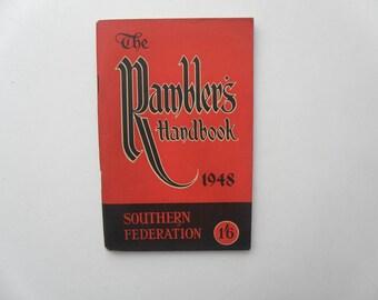 Vintage 1948 The Rambler's Handbook Southern Federation