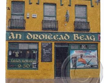Droicead, Dingle, Irish Pub Marble Coaster.