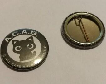 badge metal cat 2.7 cm brooch back Cabo