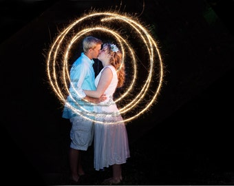 DIGITAL Sparkler circles, swirls Overlay for photographs, photos, photography, for weddings, celebrations,  fourth of july