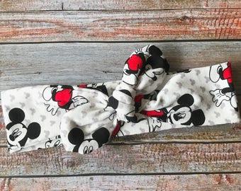Mickey Mouse Headband, Disney Headband, Headband, Baby Knot Headband, Disney Baby Headband, Mickey Mouse Baby Headband, Baby Mickey Headband