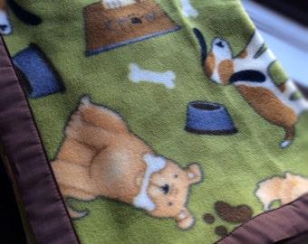Pups & Bones Fleece Dog Blanket