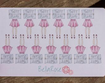 Happy Friday Planner Sticker, TGIF Planner Sticker, for use in Erin Condren Planners, Happy Planner Sticker