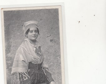 France Circa 1910 Brionnaise Young Woman Antique Postcard Unused