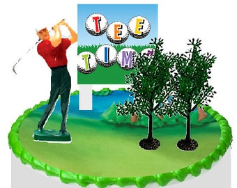 Golfer Tee Time Cake Decoration Topper