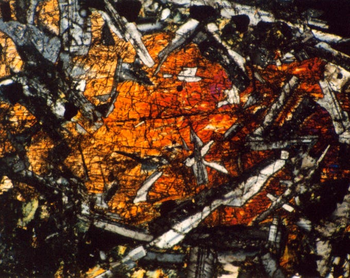 Thin Section Photography - Digital Prints on Canvas and Paper - Pyroxene and Feldspar