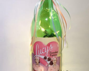 I Love Lucy Candy makers 750 ml. Lighted Wine Bottle