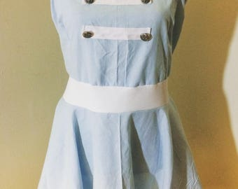 light blue sailor lolita/rockabilly/retro dress