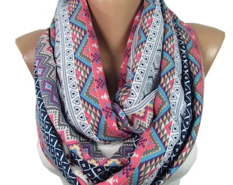 Tribal Scarf Boho Infinity Scarf Hipster Scarf Bohemian Mom Accessories Aztec Scarf Birthday  For Women For Girlfriend M50501