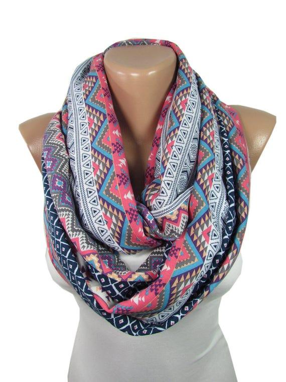 tribal scarf boho infinity scarf hipster scarf bohemian mom