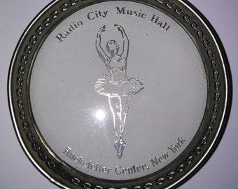 Vintage Radio City Music Hall Rockefeller Center NYC Coaster