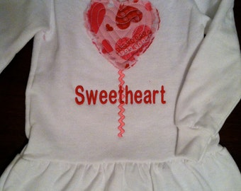 Raggy Heart Applique for your little Sweetheart