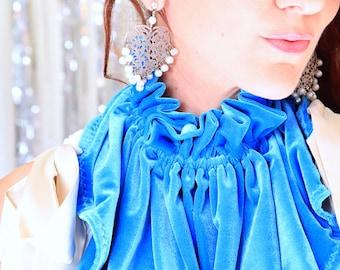 Velvet Collar - Victorian Style Fashion Collars - Women's Velvet Neck Warmer - Neckwear Collar with Ruffles - 24 Colors