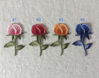 Embroidery Flower Bud Sew On Patch