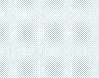 ON SALE Riley Blake Designs Kisses by Doodlebug Design Aqua on White