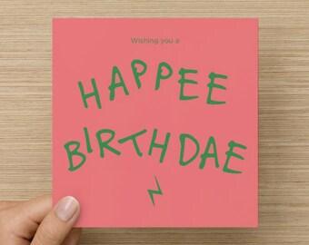 Birthday Card from Hagrid