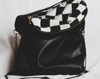 Crossbody fold over purse