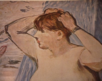Vintage Print - Manet's Study of The Nude - another beautiful woman