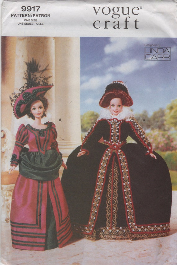 Vogue 9917 652 Linda Carr Barbie Doll Clothes Pattern Fashion