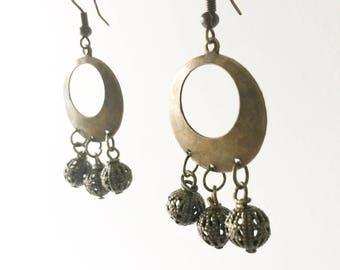 Brass Bohemian Chandelier Earrings, Boho Jewelry, Festival Earrings, Festival Wear, Bohemian, Dangle Earrings, Foundry And Co, New Zealand