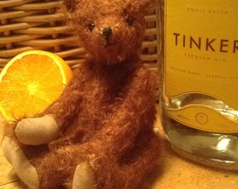 """Tinker, a 7"""" limited edition hand made mohair collector's bear"""