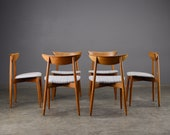 6 Mid Century Dining Chairs Harry Østergaard Danish Modern Teak