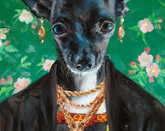 FRIDA POOCH, digital download for you to print, from my original oil painting