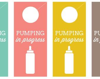 Pumping in Progress Door hangers and signs — DIGITAL DOWNLOAD