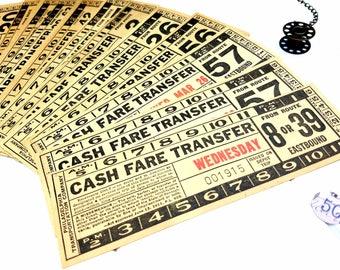 Vintage Tickets / Vintage Ticket Lot / Ticket Pack / Vintage Ephemera / Transfer Tickets / Ephemera /