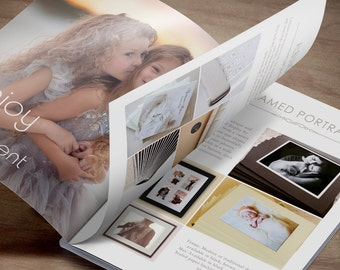 Photography Product Catalogue Template - Pricing Guide Magazine Template for Photographer - Studio Look Book - INSTANT DOWNLOAD