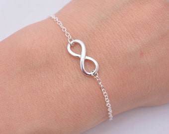 Sterling Silver Infinity Bracelet, Tiny Infinity Bracelet, Silver Infinity Bracelet, Mini Infinity Bracelet, 925 Sterling, Gift for Her 0261