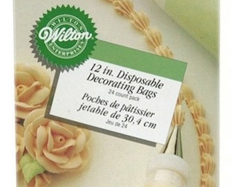 "Wilton 12"" Disposable Decorating Bags - Disposable Pastry Bags Icing Frosting Bags, 24 Pack"