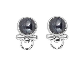 stud silver com black hematine balls hemitite cunl ball amazon earrings dp post jewelry studs created sterling trustmark hematite