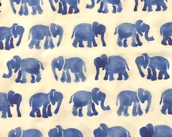 custom baby blanket ~ blue watercolor elephants ~ chic couture ~ baby accessories ~ custom made baby blanket from lillybelle designs