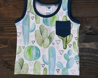 Baby/Toddler Tank Top//Muscle Shirt//Sleeveless Shirt//Pocket//Infant Clothing//Summer Clothes