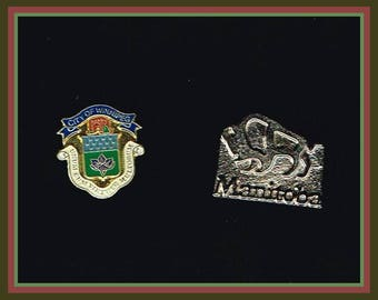 4 Winnipeg Manitoba  Lapel Pins /Stick Pin
