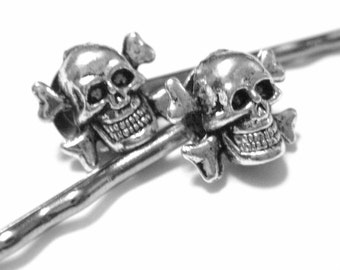 Skeleton Hair Accessories -Halloween Wedding -Pirate Womens Skeleton Costume -Skull Hair Pin -Halloween Bobby Pins -Gothic Creepy Hair Clip