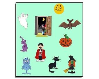 Orange Pumpkin, What Do You See?/Pre-K/Kindergarten/Storytelling Set/for/Teachers/Parents/Vibrant Colors