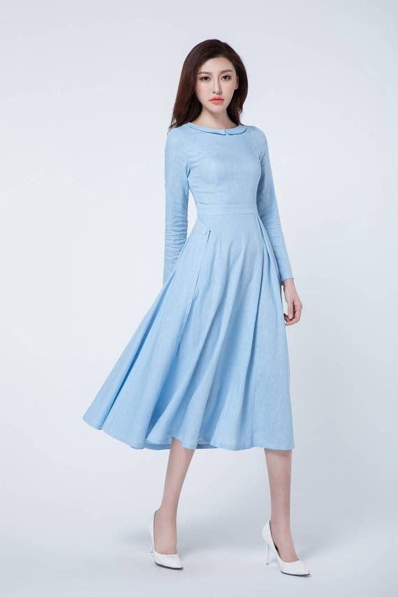lighting long line chiffon dresses a floor blue neck prom light length dress high evening