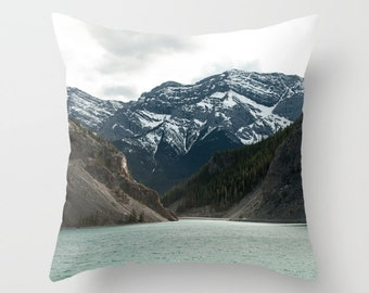 Sofa Cushion Case, Rustic Mountain Lodge Masculine Bedroom Decor, Accent Pillow Covers For A Cabin, Lake House Art, Whitemans Pond Alberta